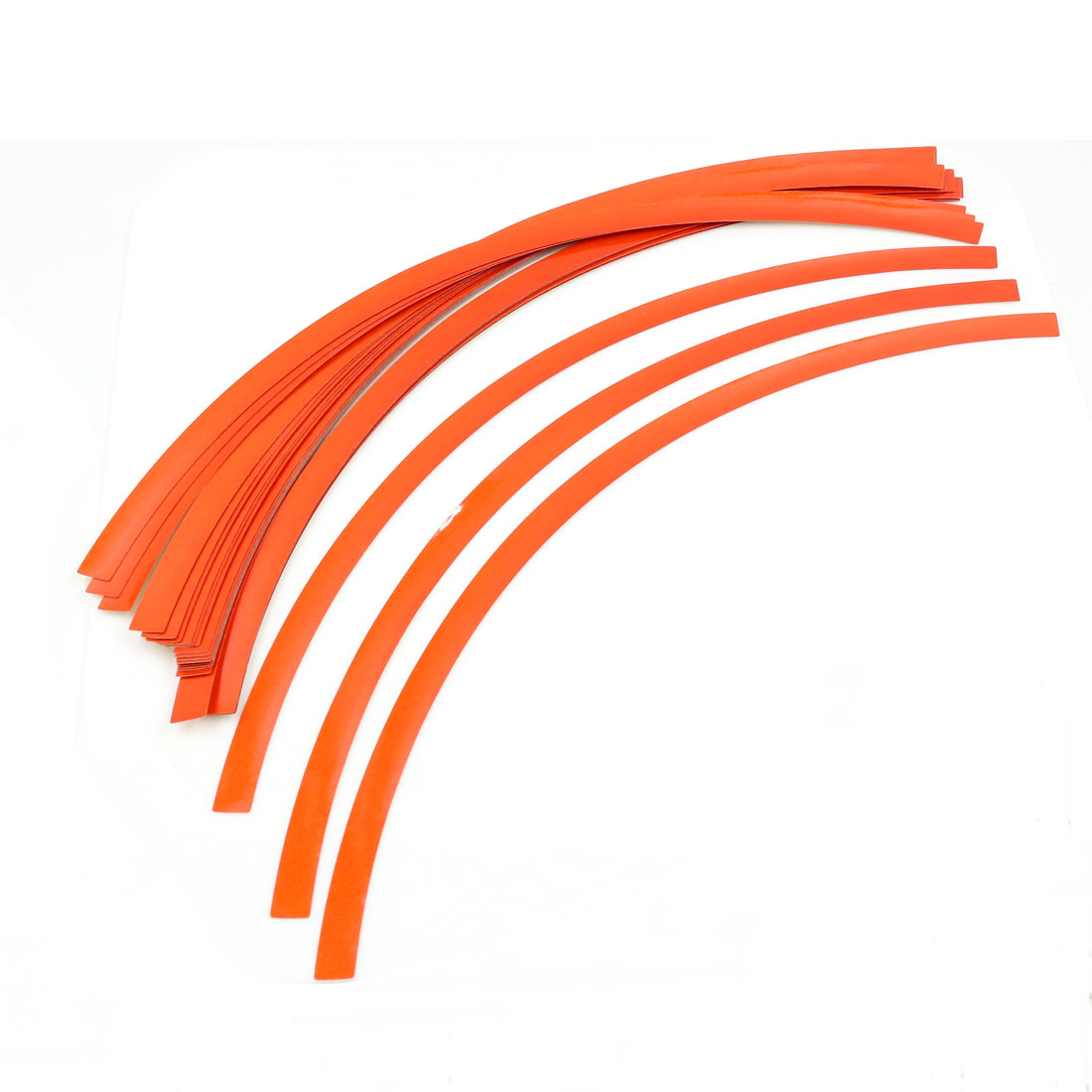 32 Pcs 31cm Length Orange Adhesive Car Motorcycle Wheel Rim Tape Sticker Strip