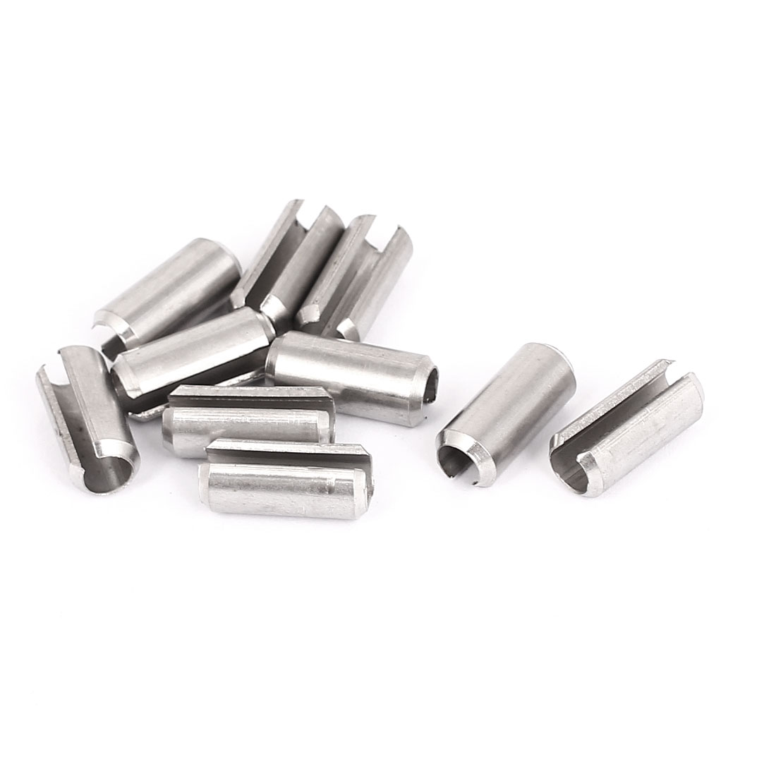 M8x20mm 304 Stainless Steel Split Spring Roll Dowel Pins Fasteners 10Pcs