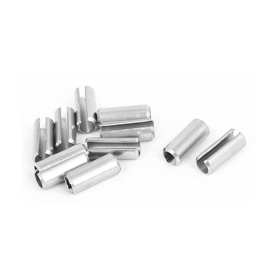 M6x16mm Stainless Steel Split Spring Roll Dowel Pins Fasteners 10Pcs