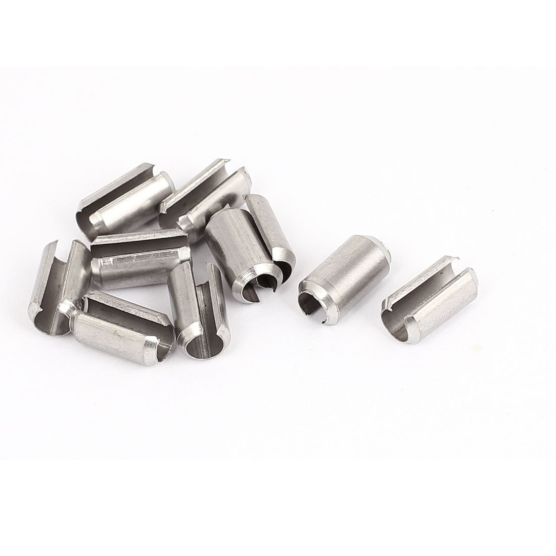 M8x16mm 304 Stainless Steel Split Spring Roll Dowel Pins Fasteners 10Pcs