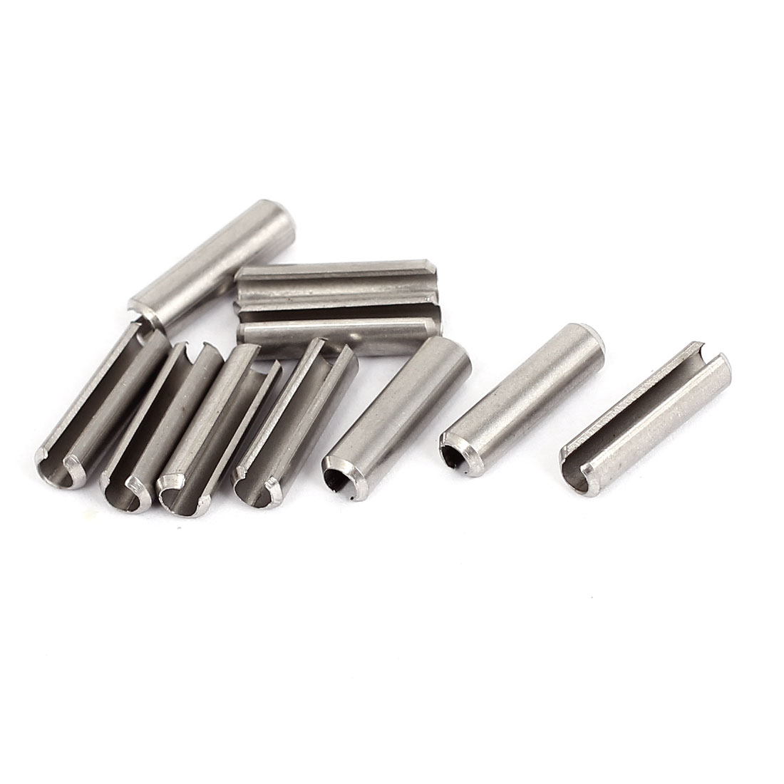 M5x20mm 304 Stainless Steel Split Spring Roll Dowel Pins Fasteners 10Pcs