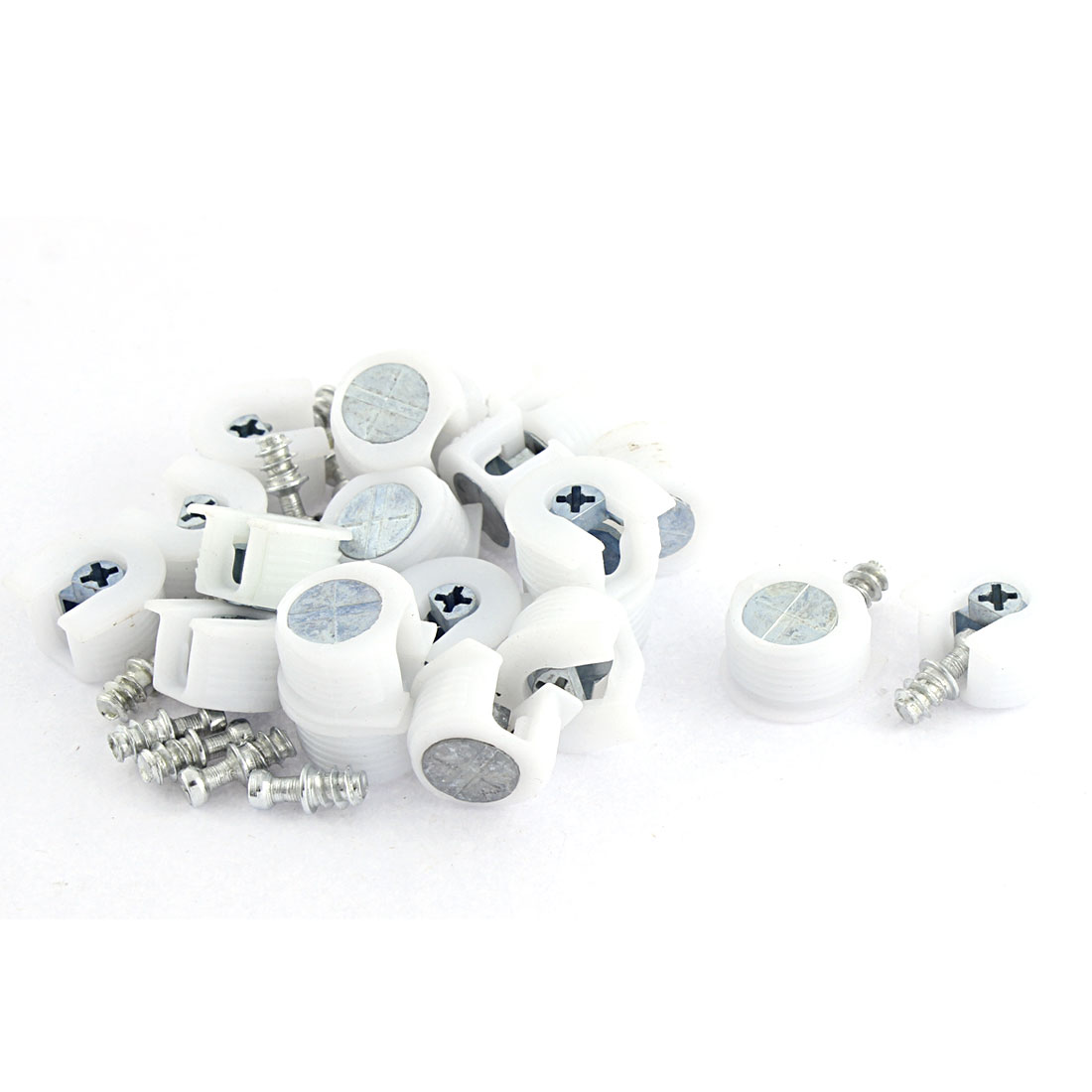 Furniture Two-in-One Screw in Type Bracket Shelf Support Pin White 20 Pcs