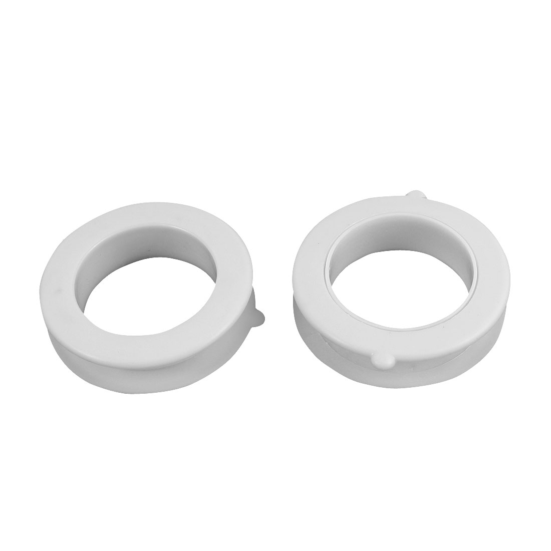 Household Sink Water Pipe Rings White 87mm x 57mm x 24mm 2Pcs