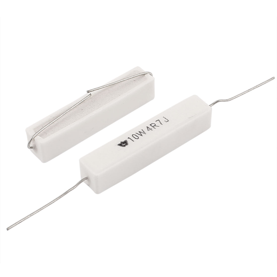 2pcs 10W Watt 4R7J 4.7Ohm 5% Ceramic Cement Power Resistor