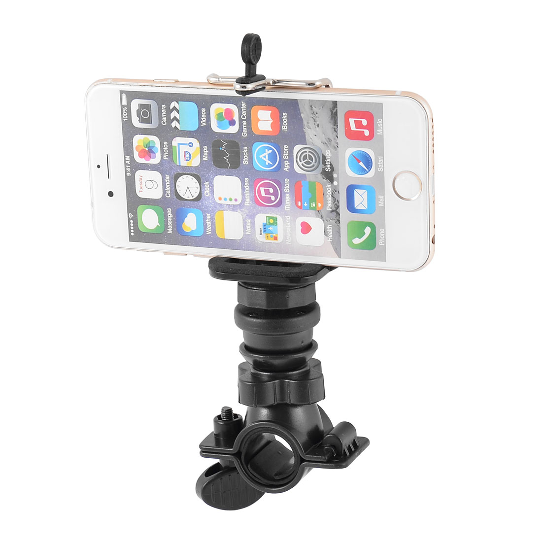 Cycling Bike Bicycle Handlebar Mount Cell Phone Holder Clamp Black