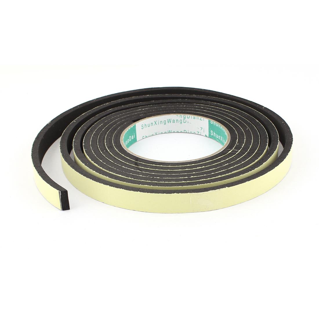 3 Meter 15mm x 5mm Single Side Adhesive Foam Sealing Tape for Door Window