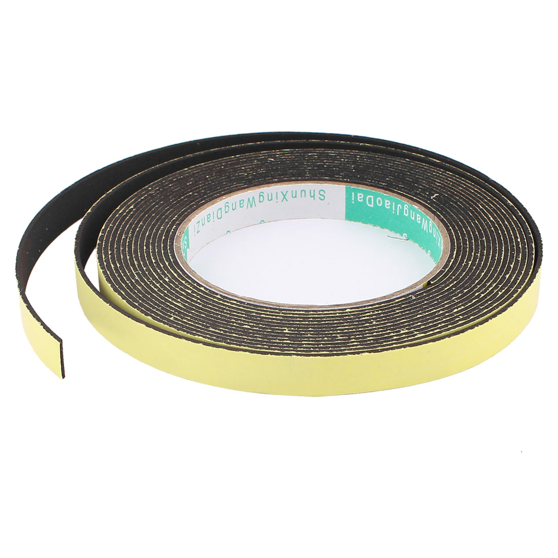5M 12mm x 1.5mm Single Side Adhesive Foam Sealing Tape for Door Window