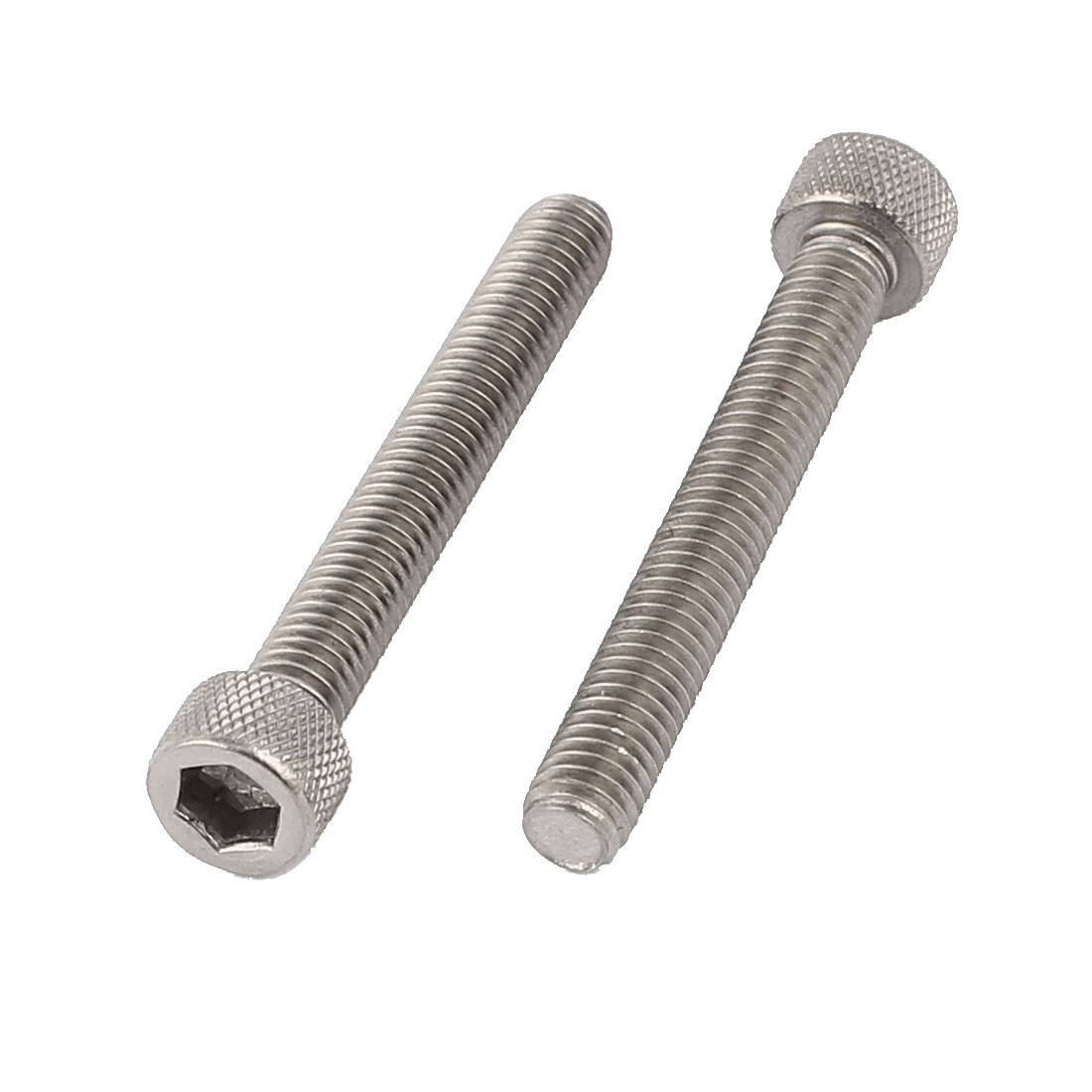 M6 x 45mm Stainless Steel Hex Head Cap Socket Screw Bolt Hardware 2pcs