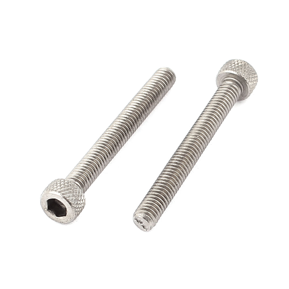 M4 x 35mm 0.7mm Pitch Stainless Steel Hex Head Socket Cap Screws 2pcs