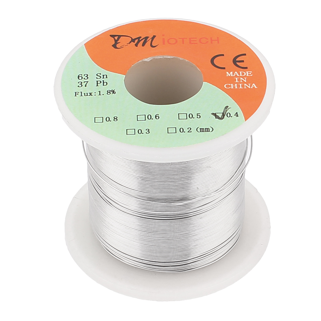 0.4mm Rosin Core Solder Tin Lead Solder Wire 63/37 for Electrical Soldering 200g