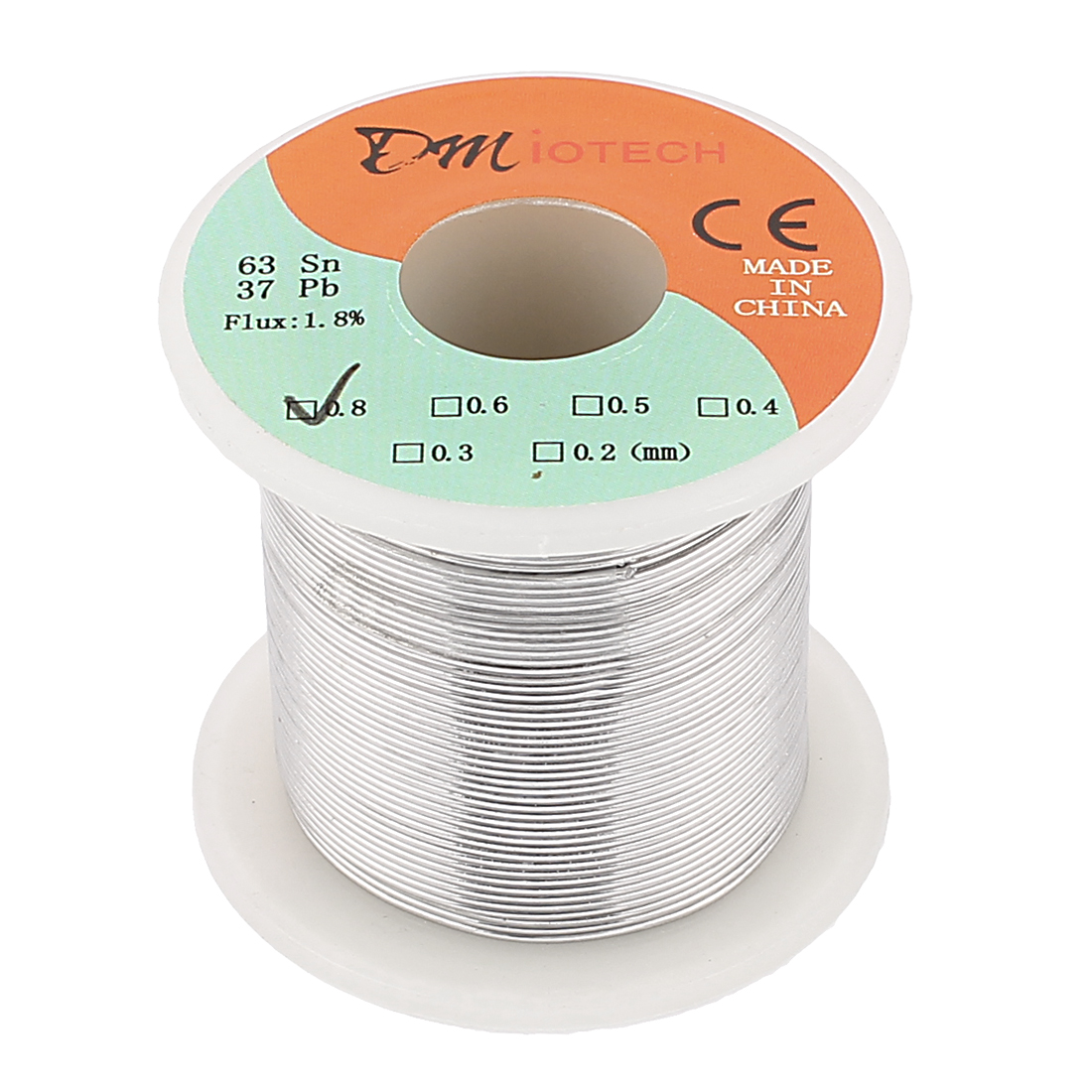 0.8mm Rosin Core Solder Tin Lead Solder Wire 63/37 for Electrical Soldering 200g