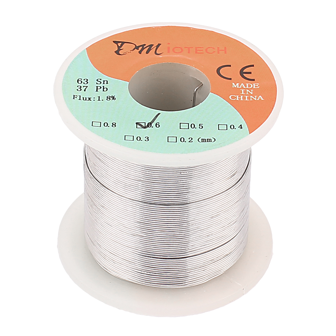 0.6mm Rosin Core Solder Tin Lead Solder Wire 63/37 for Electrical Soldering 200g