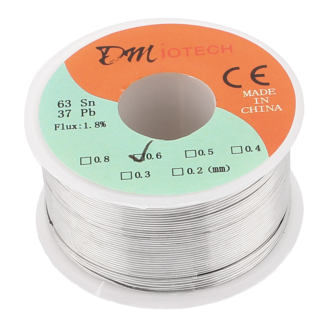 0.6mm Rosin Core Solder Tin Lead Solder Wire 63/37 for Electrical Soldering 150g