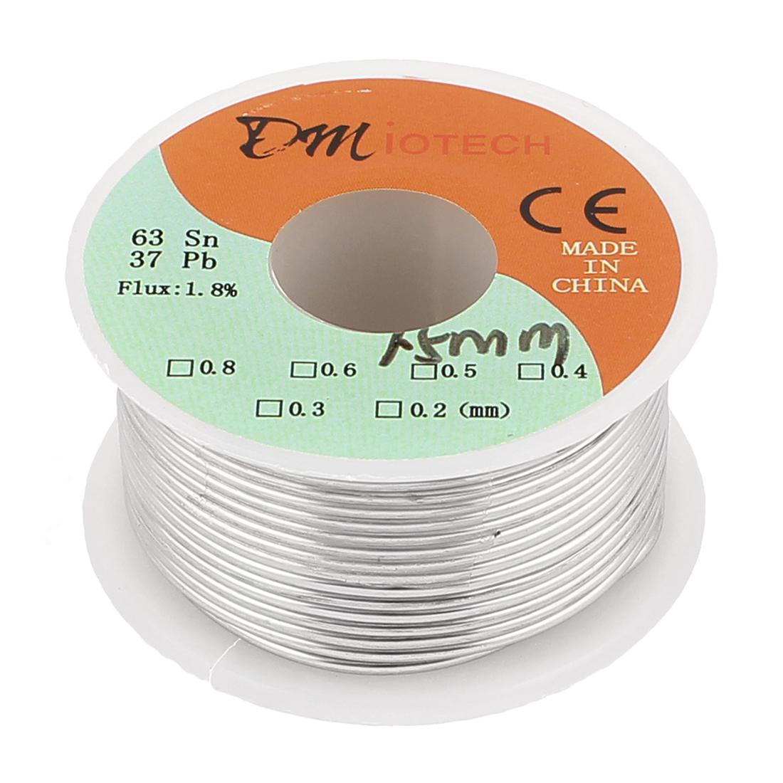 1.5mm 100G 63/37 Rosin Core Flux 1.8% Tin Lead Roll Soldering Wire