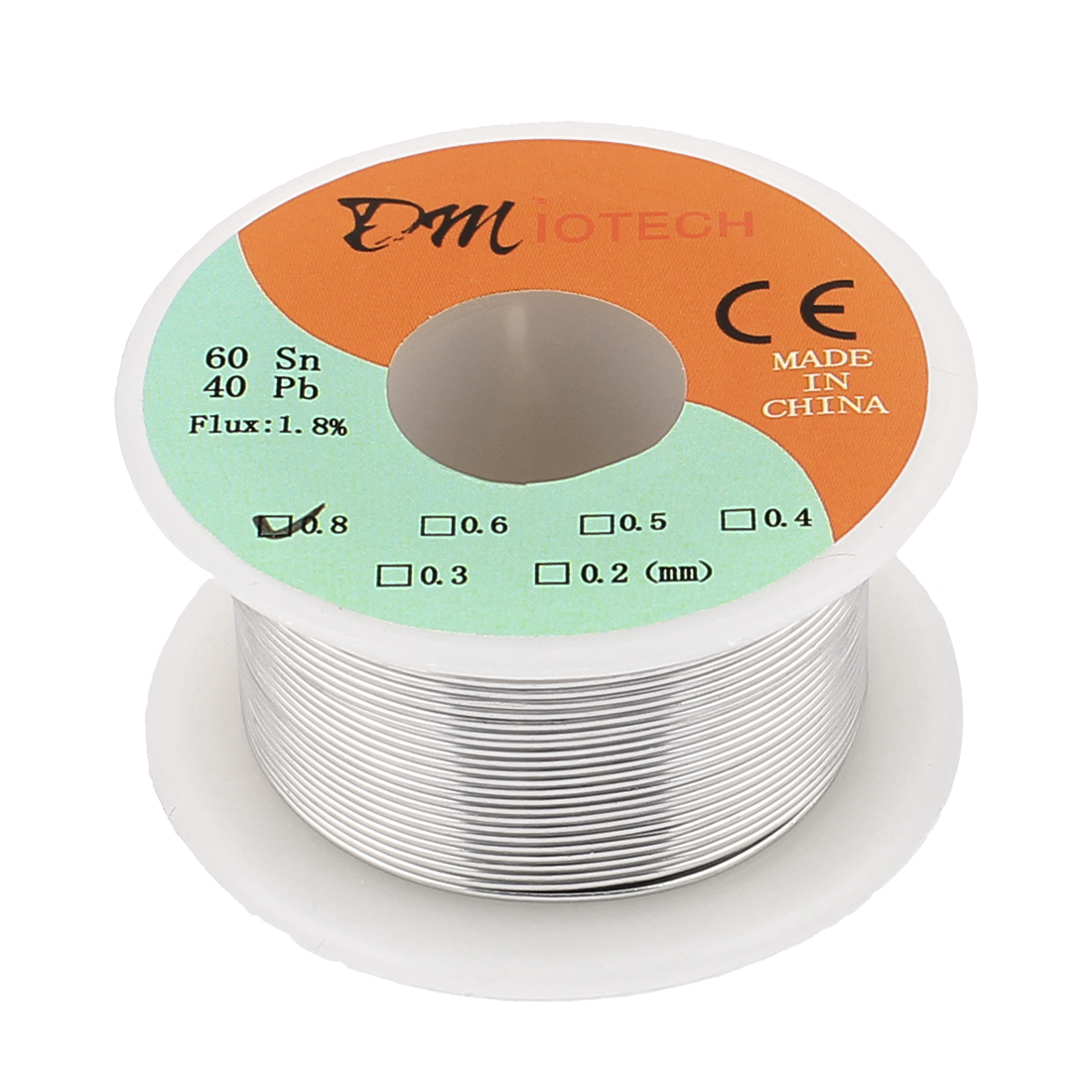 0.8mm 50G 60/40 Rosin Core Tin Lead Roll Soldering Solder Wire