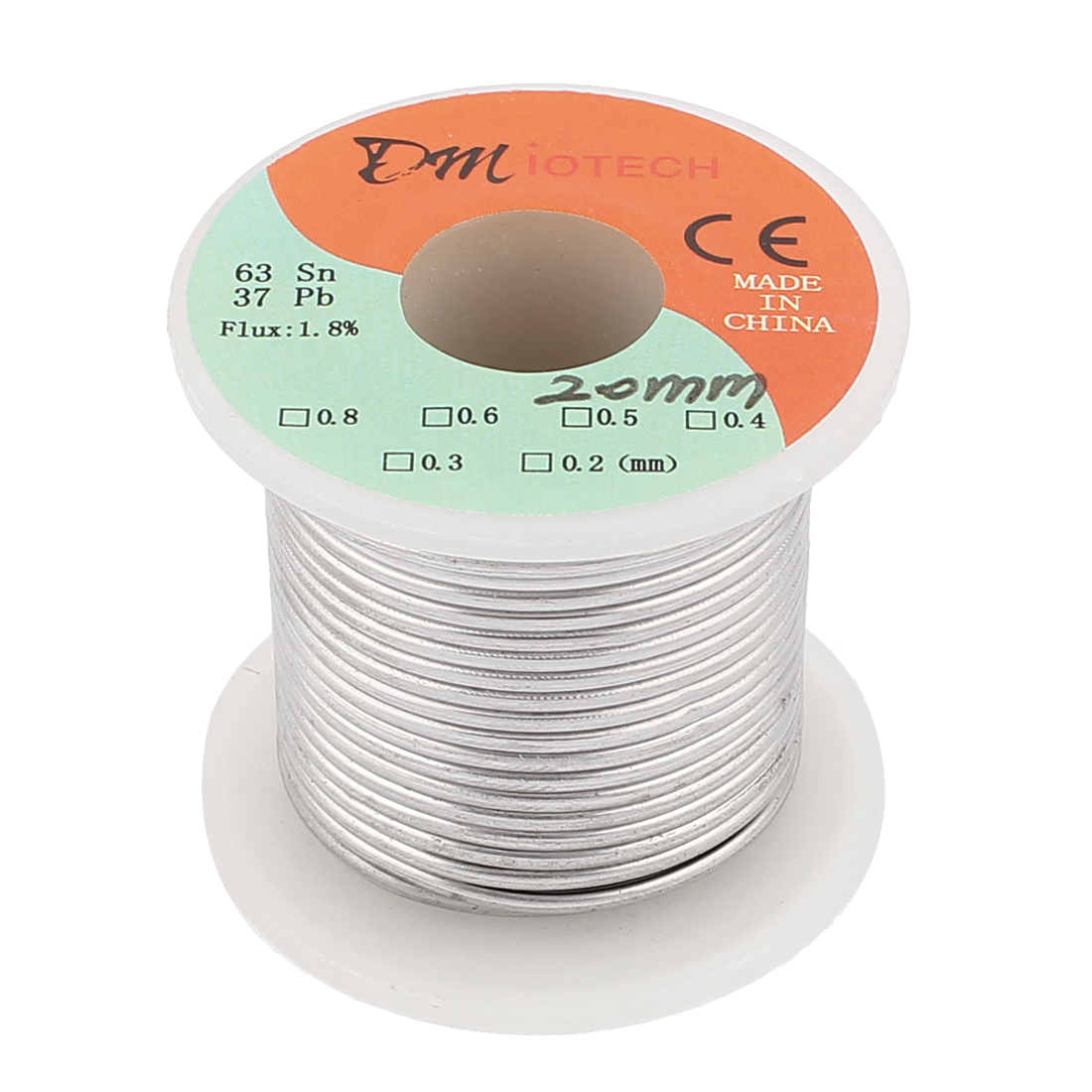 2mm 200G 63/37 Rosin Core Flux 1.8% Tin Lead Roll Soldering Solder Wire