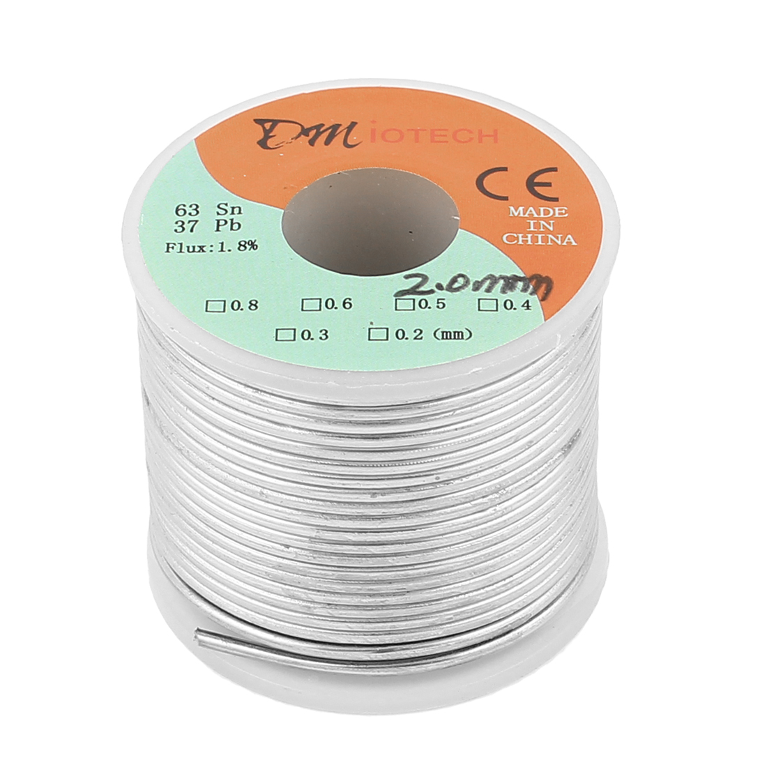 2mm Rosin Core Solder Tin Lead Solder Wire 63/37 for Electrical Soldering 400g