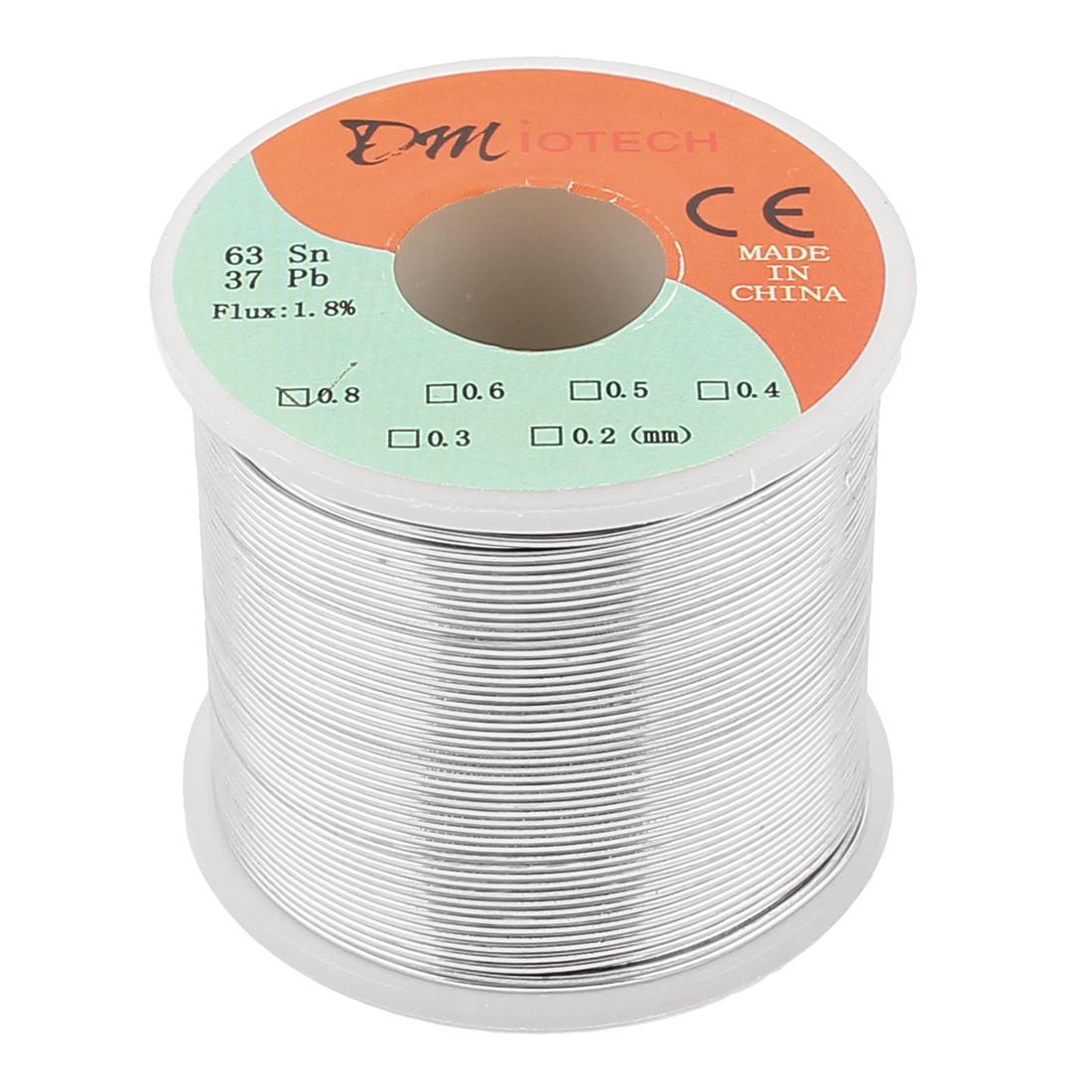 0.8mm 400G 63/37 Rosin Core Flux 1.8% Tin Lead Roll Soldering Wire