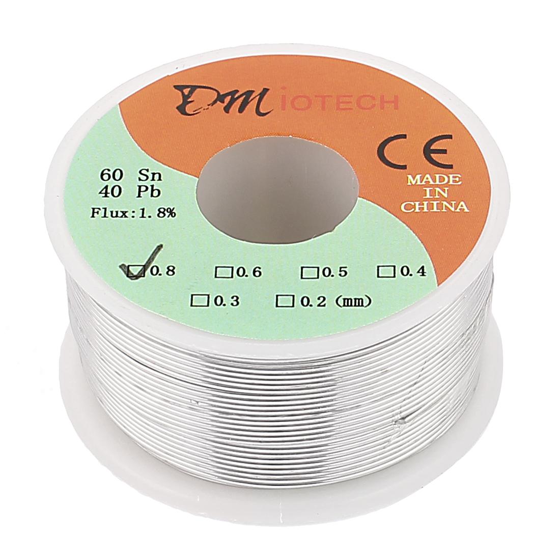 0.8mm 150G 60/40 Rosin Core Tin Lead Roll Soldering Solder Wire
