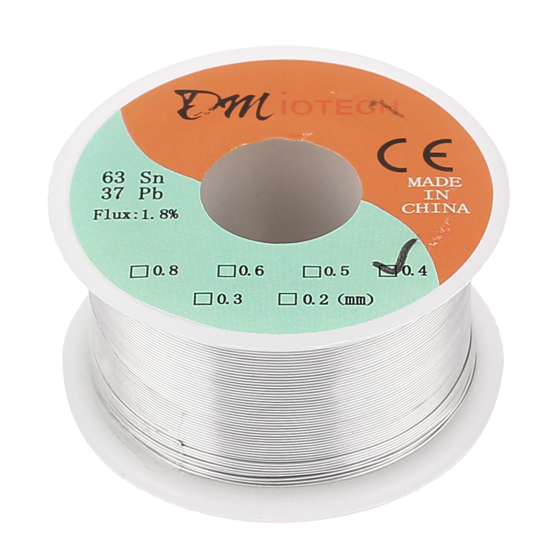 0.4mm Rosin Core Solder Tin Lead Solder Wire 63/37 for Electrical Soldering 100g