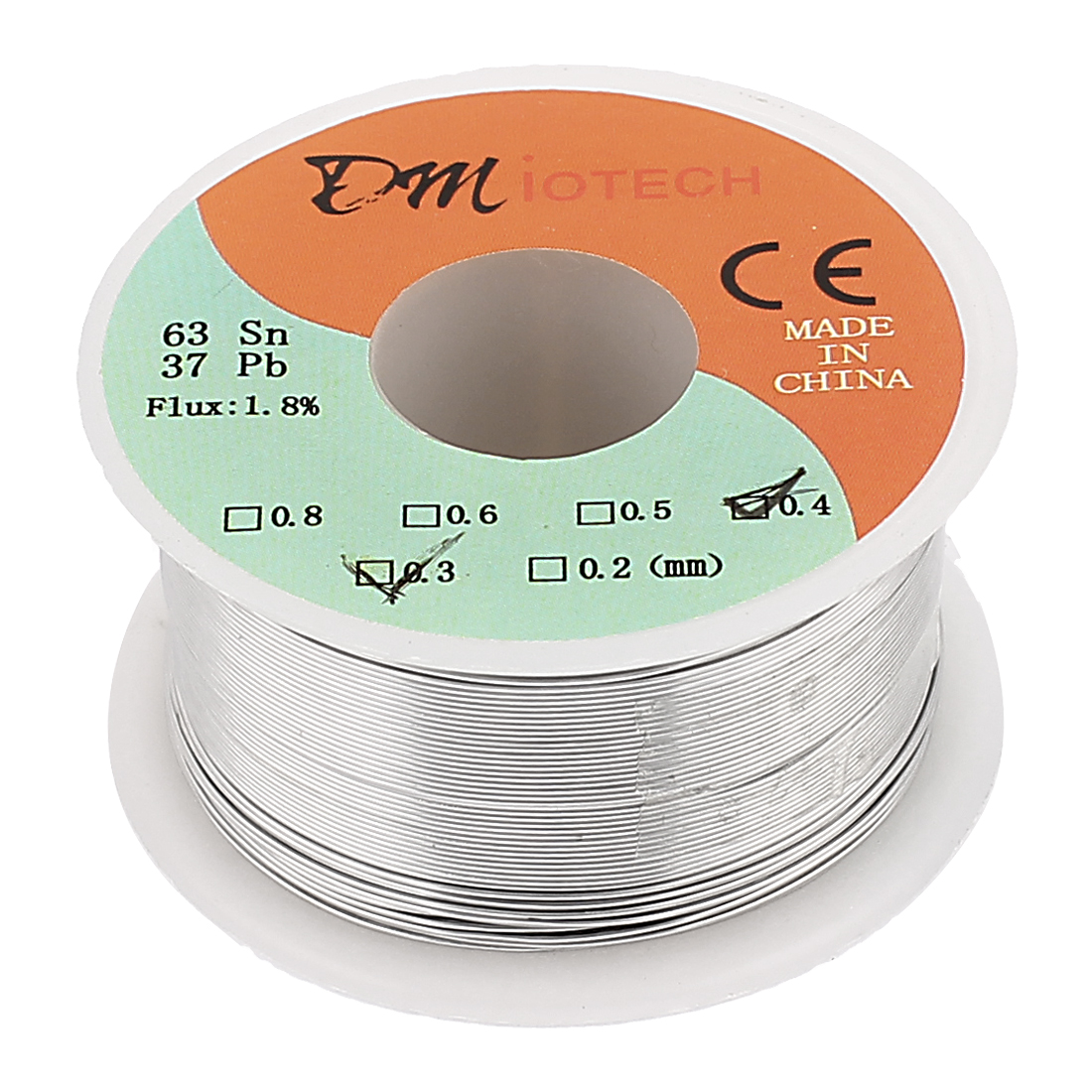 0.3-0.43mm Rosin Core Solder Tin Lead Solder Wire 63/37 for Electrical Soldering 100g