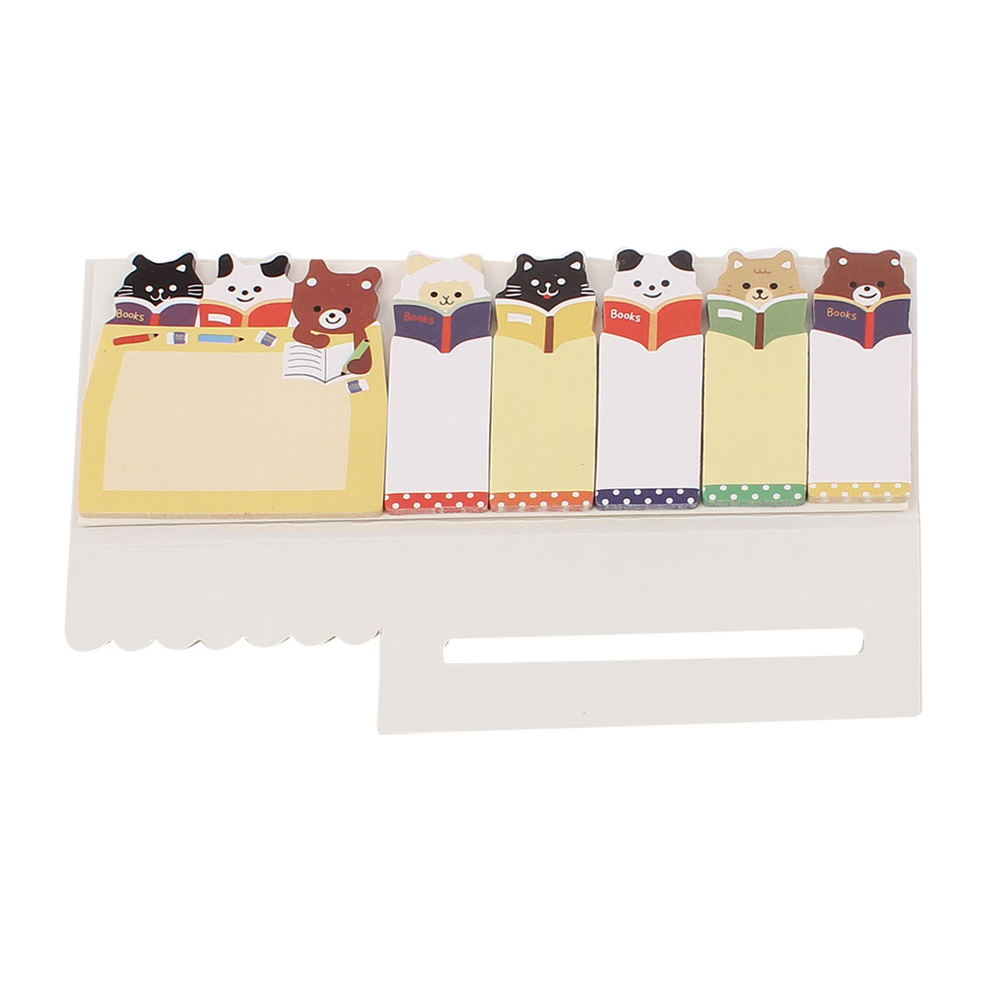 Rectangular Shape Cartoon Pattern Sticky Office Memo Note Paper Notepaper Beige
