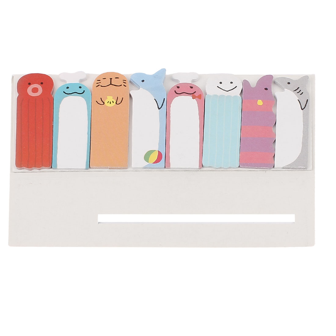 Rectangular Shape Cartoon Pattern Sticky Office Memo Note Paper Notepaper Gray