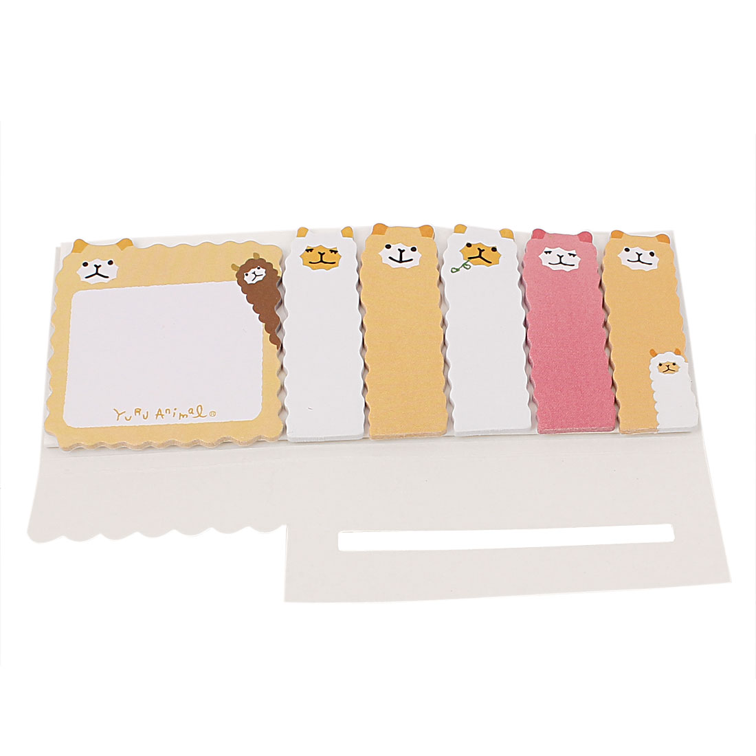 Rectangular Shape Sticky Yellow Cartoon Pattern Memo Note Paper Offices Notepaper