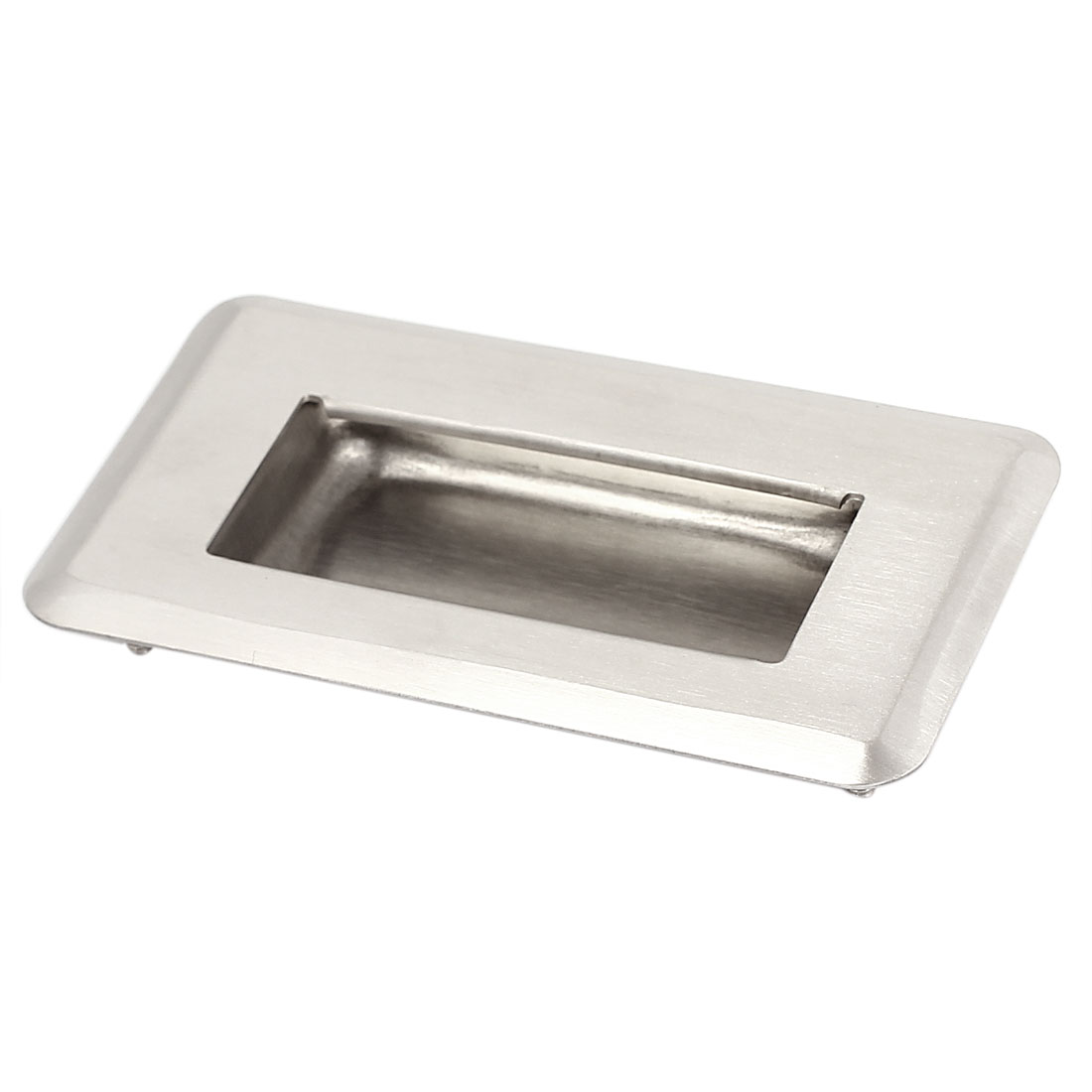 110mmx63mm Stainless Steel Recessed Flush Pull Sliding Door Cabinet Handle