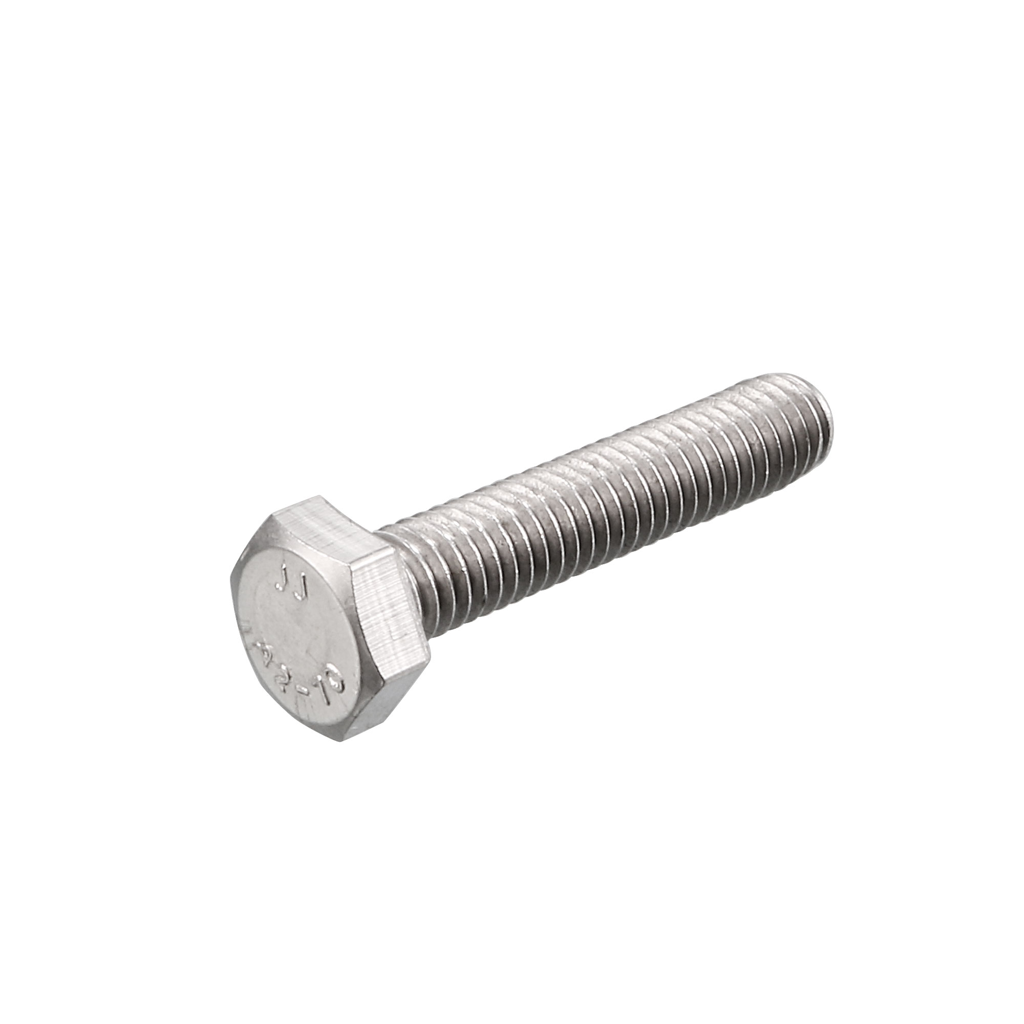 M6 x 30mm Metric 304 Stainless Steel Fully Threaded Hex Head Screw Bolt 20 Pcs