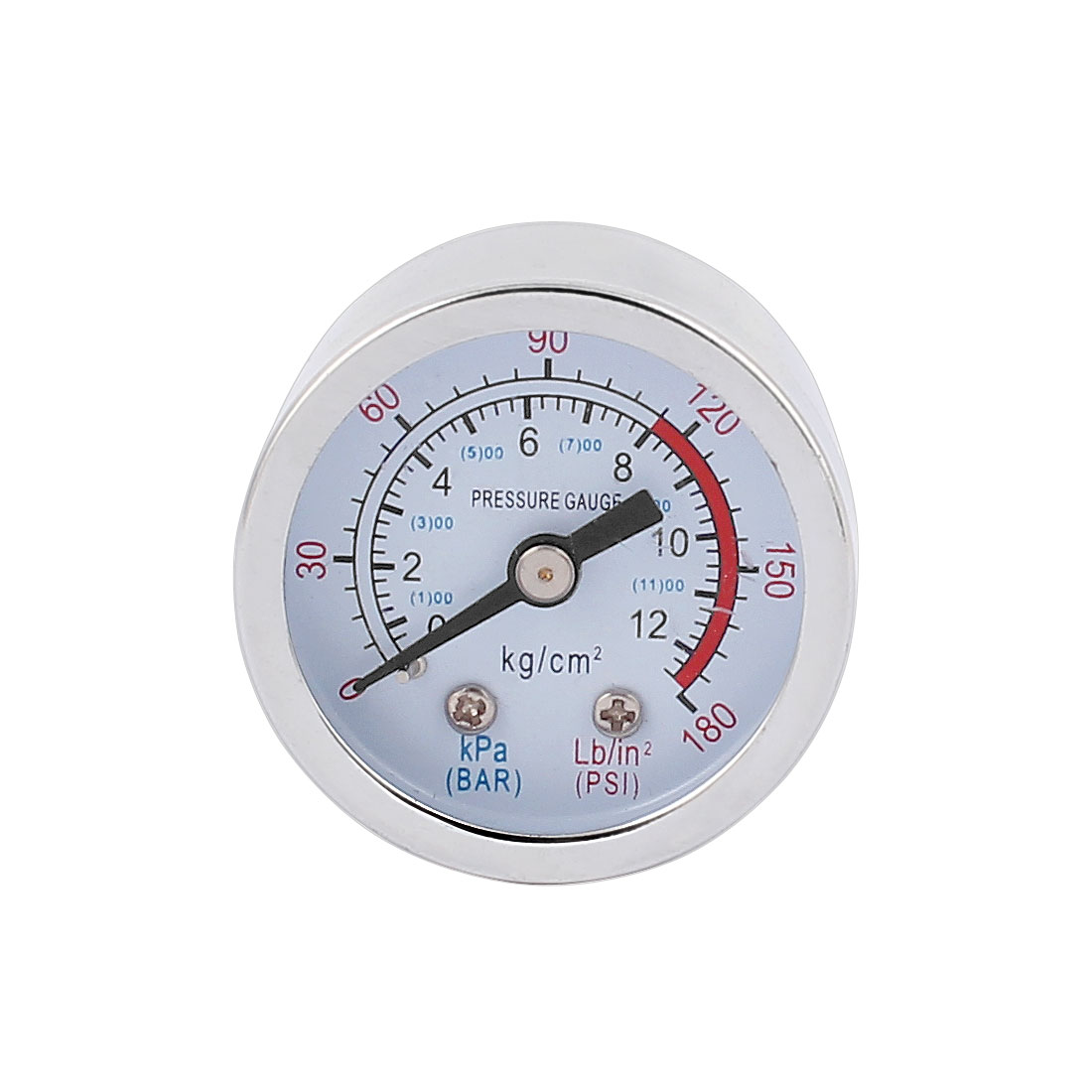Round Shaped 0-180PSI 0-12 kg/cm2 10mm 1/8BSP Thread Dia Dial Air Pressure Gauge Measure