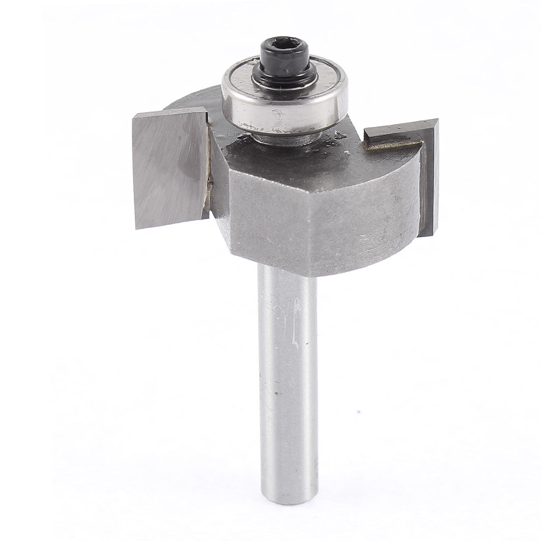 "1/4"" x 1/2"" Straight Shank End Bearing Slot Undercut Router Bit Cutter Silver Tone"