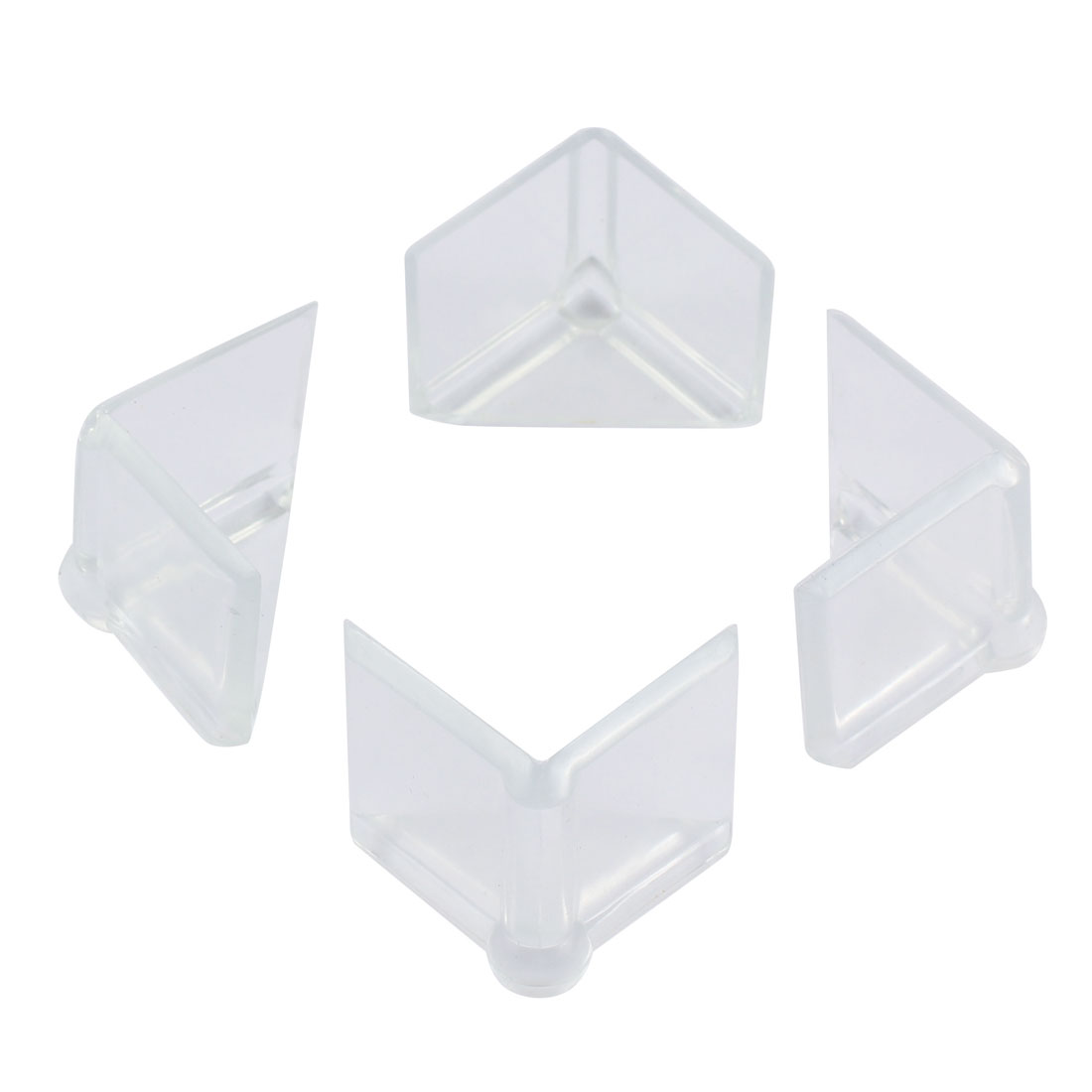Table Desk Edge Corner Guard Protector Rubber Cushion Pad Mat Clear 4 Pcs