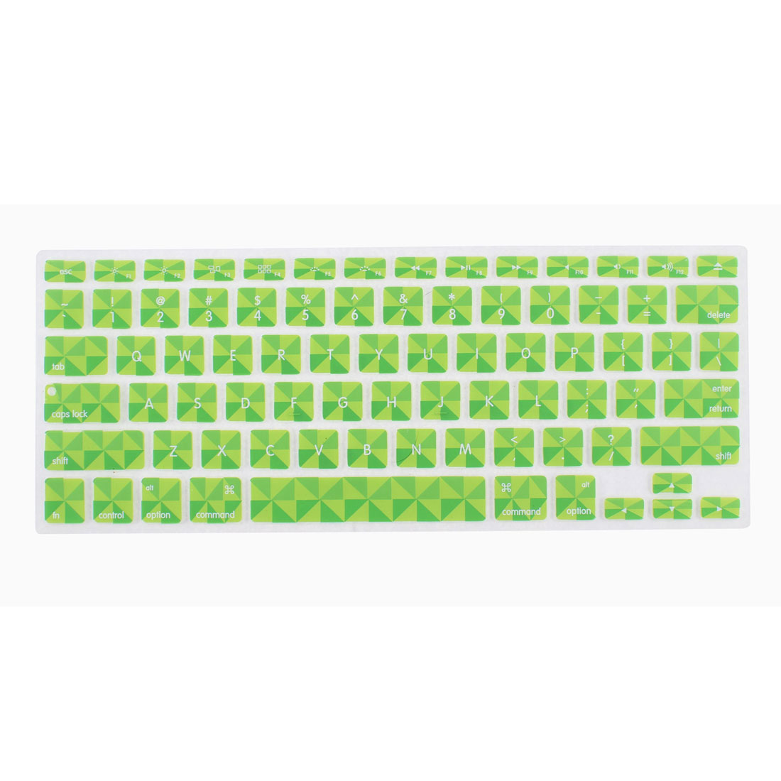 Green Soft Silicone Clover Pattern Protective Keyboard Skin Cover for 13 Inch PC Laptop