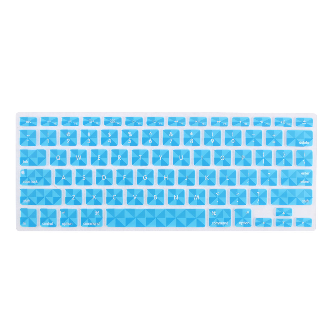 Blue Silicone Clover Pattern Protective Keyboard Skin Cover Film for 13 Inch Laptop
