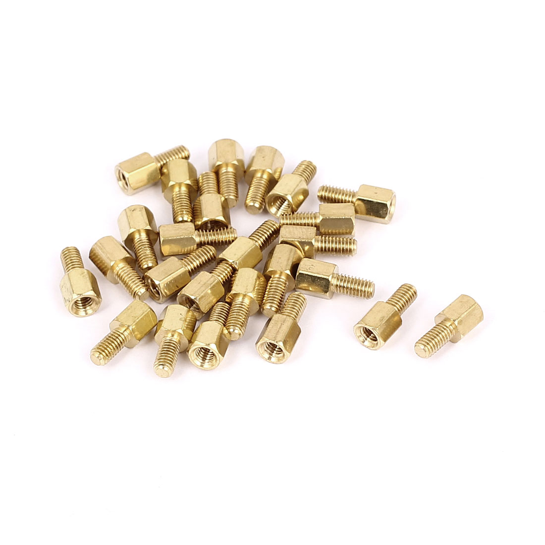 M3x5+6mm Female/Male Threaded Brass Hex Standoff Pillar Spacer Coupler Nut 25pcs