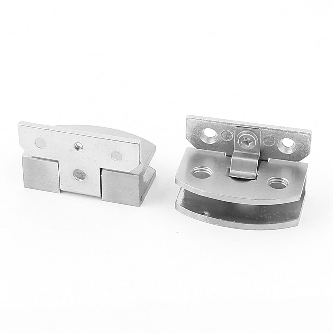 2 Pcs Silver Tone Metal Clip Clamp Holder for 5-8mm Thickness Glass