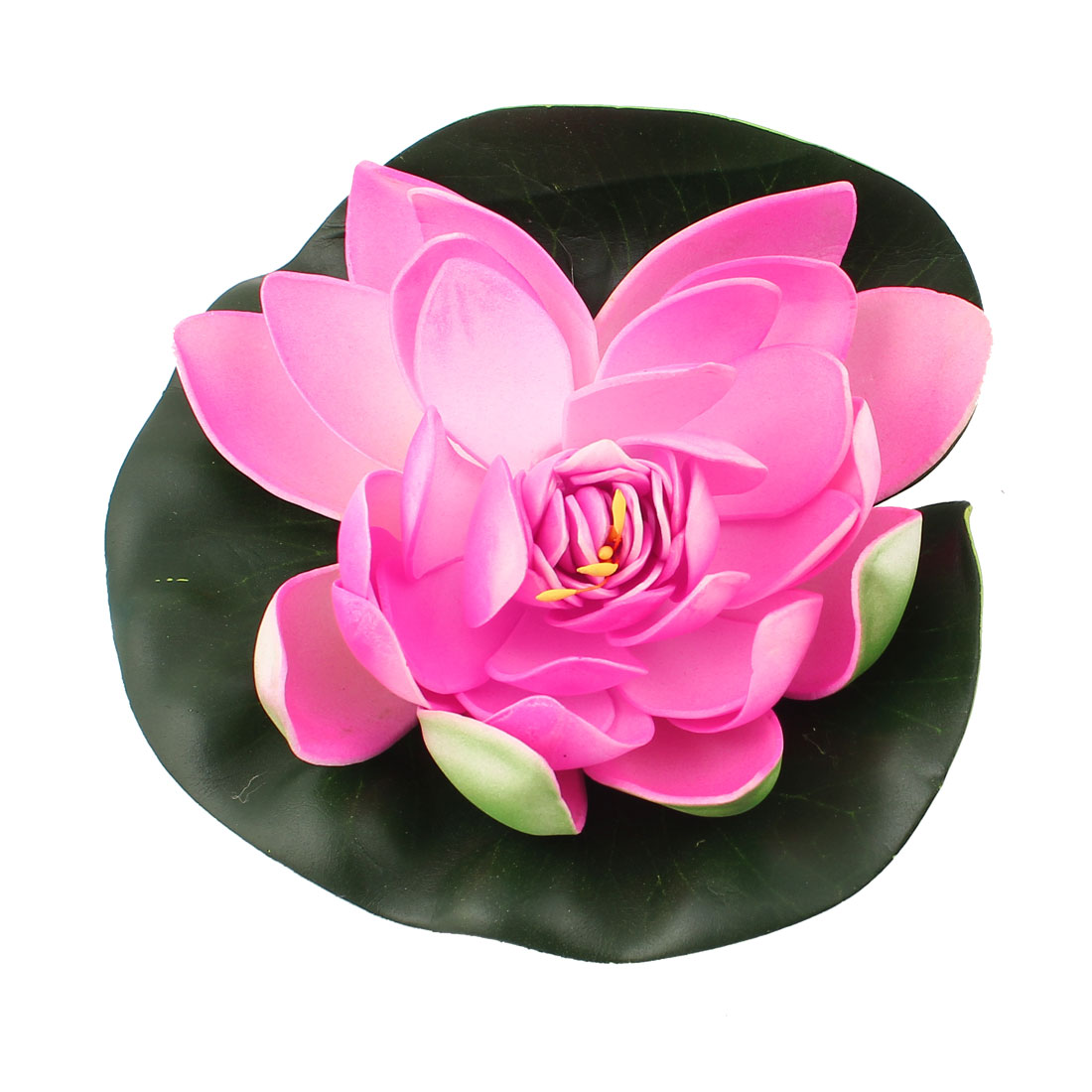 Green Pink Foam Lotus Ornament for Aquarium Fish Tank