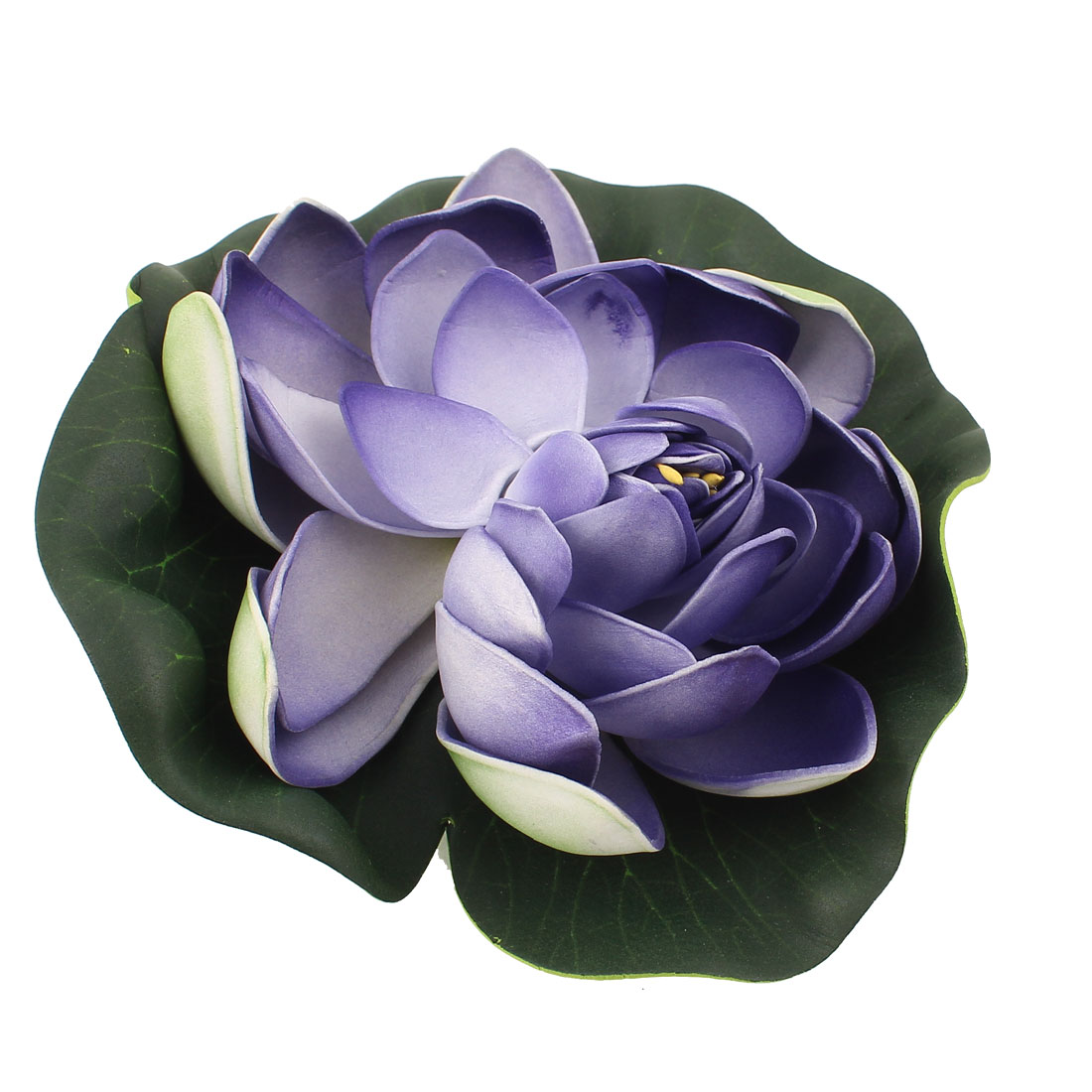 Green Dark Purple Foam Simulation Lotus Decoration for Aquarium Fish Tank