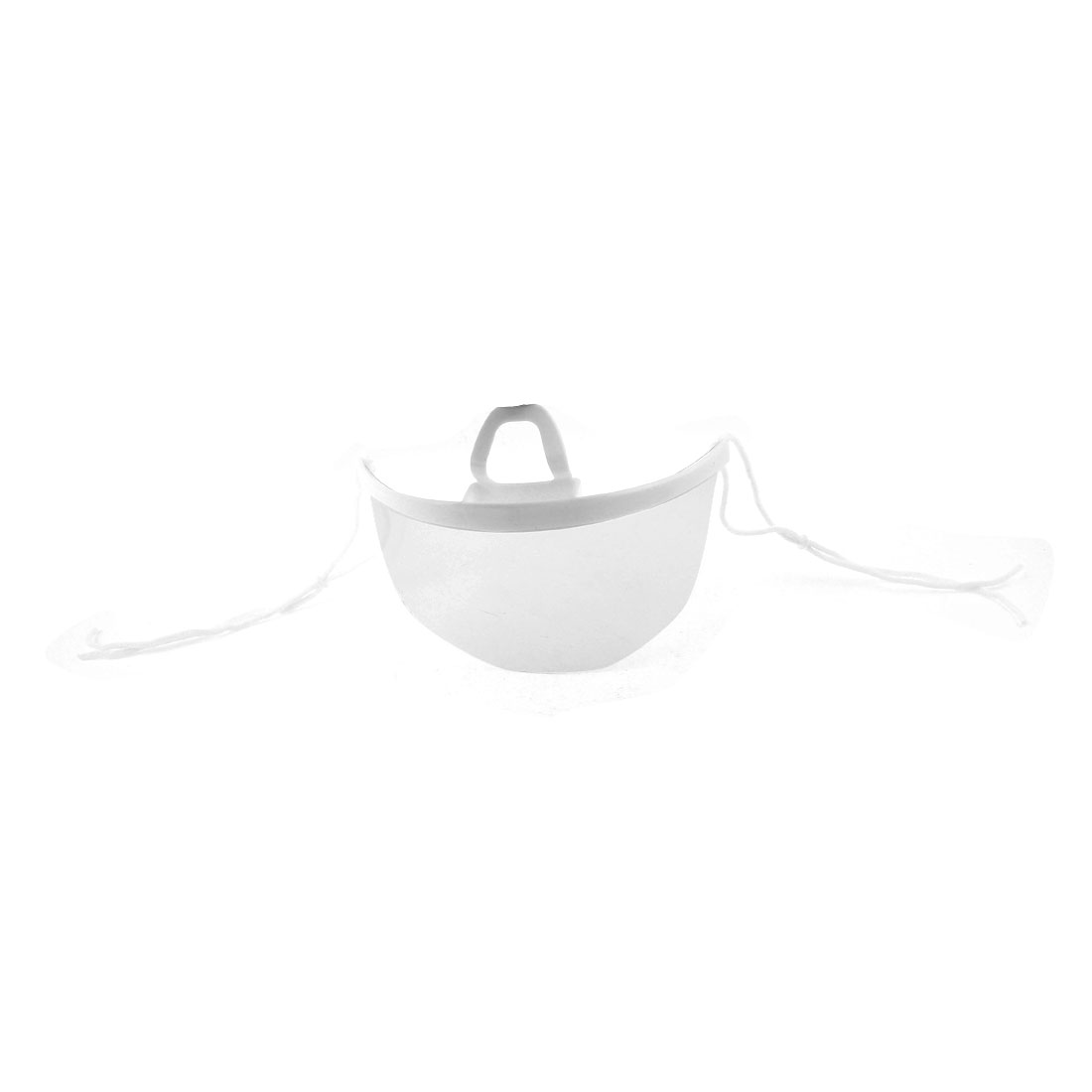 Adjustable Strap Frameless Plastic Hygienic Face Mask White Clear
