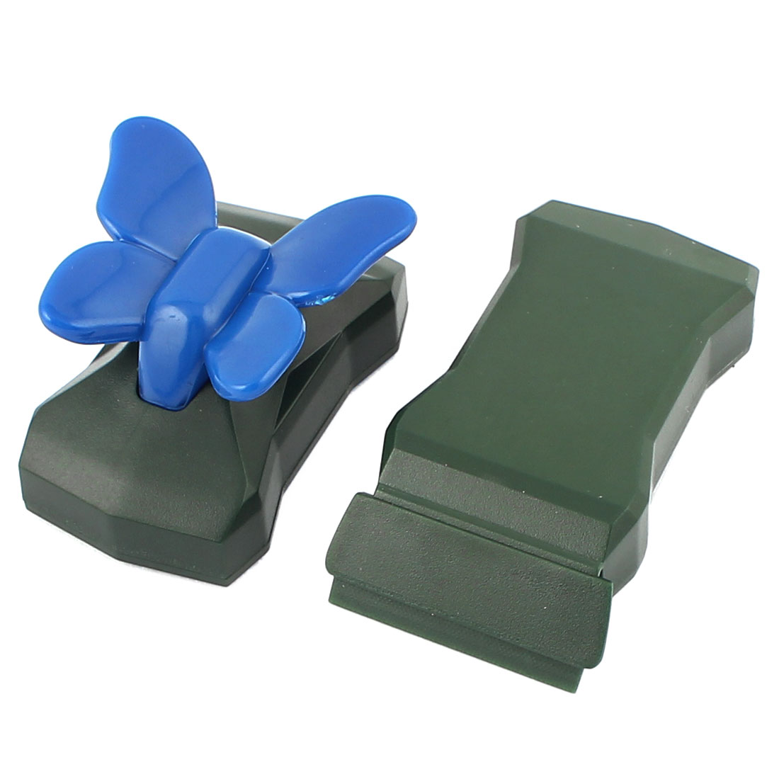 Fish Tank Army Green Rotatable Sponge Cleaning Brush Cleaner Scrubber 2pcs