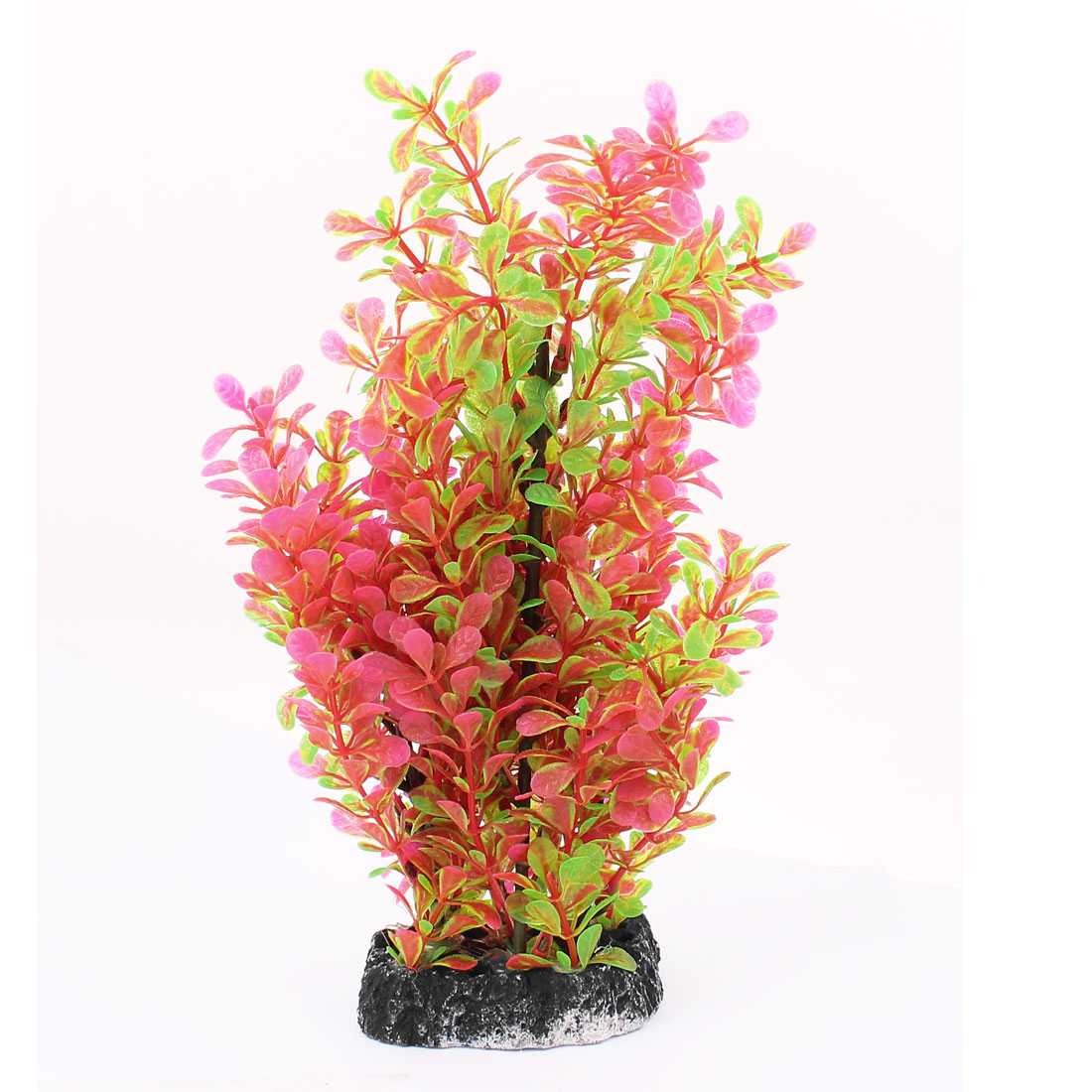Aquarium Fish Tank Artificial Aquatic Grass Plant Decoration Green Magenta