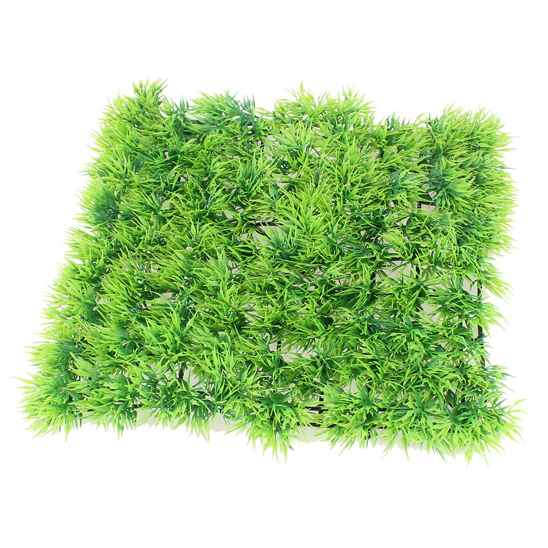 "Aquarium Ornament Green Plastic Grass Lawn Mat Turf Decoration 10"" x 10"" x 1.2"""