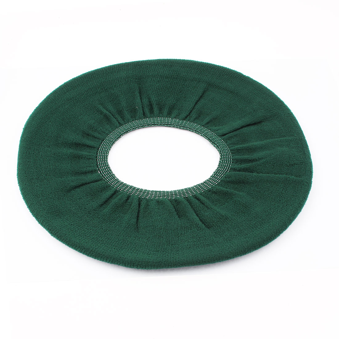 Bathroom Washable Fleece Toilet Mat Closestool Seat Cover Warmer Pad Dark Green