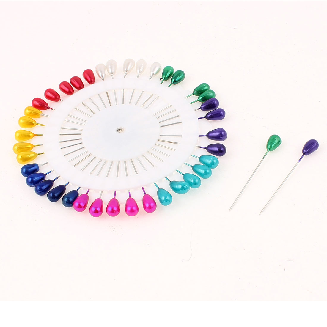 40pcs Multicolour Plastic Ball Head Straight Needles Garment DIY Pins