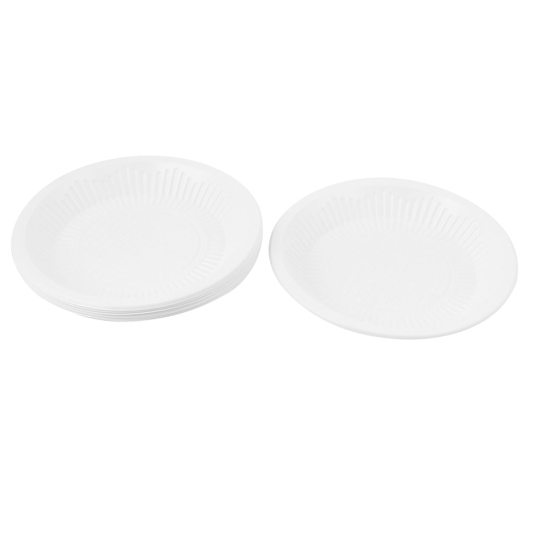 10 PCS Festival Birthday Party Dessert White PVC Disposable Dishes Plate Tray