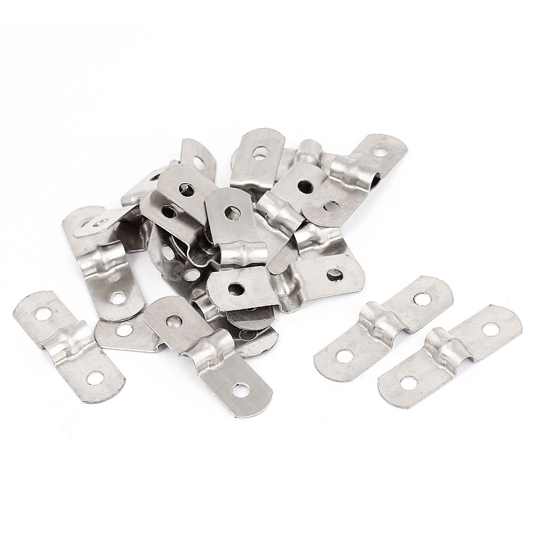20pcs 2-Hole Metal Rigid Conduit Pipe Straps Clips Clamps for 5mm Dia Tube