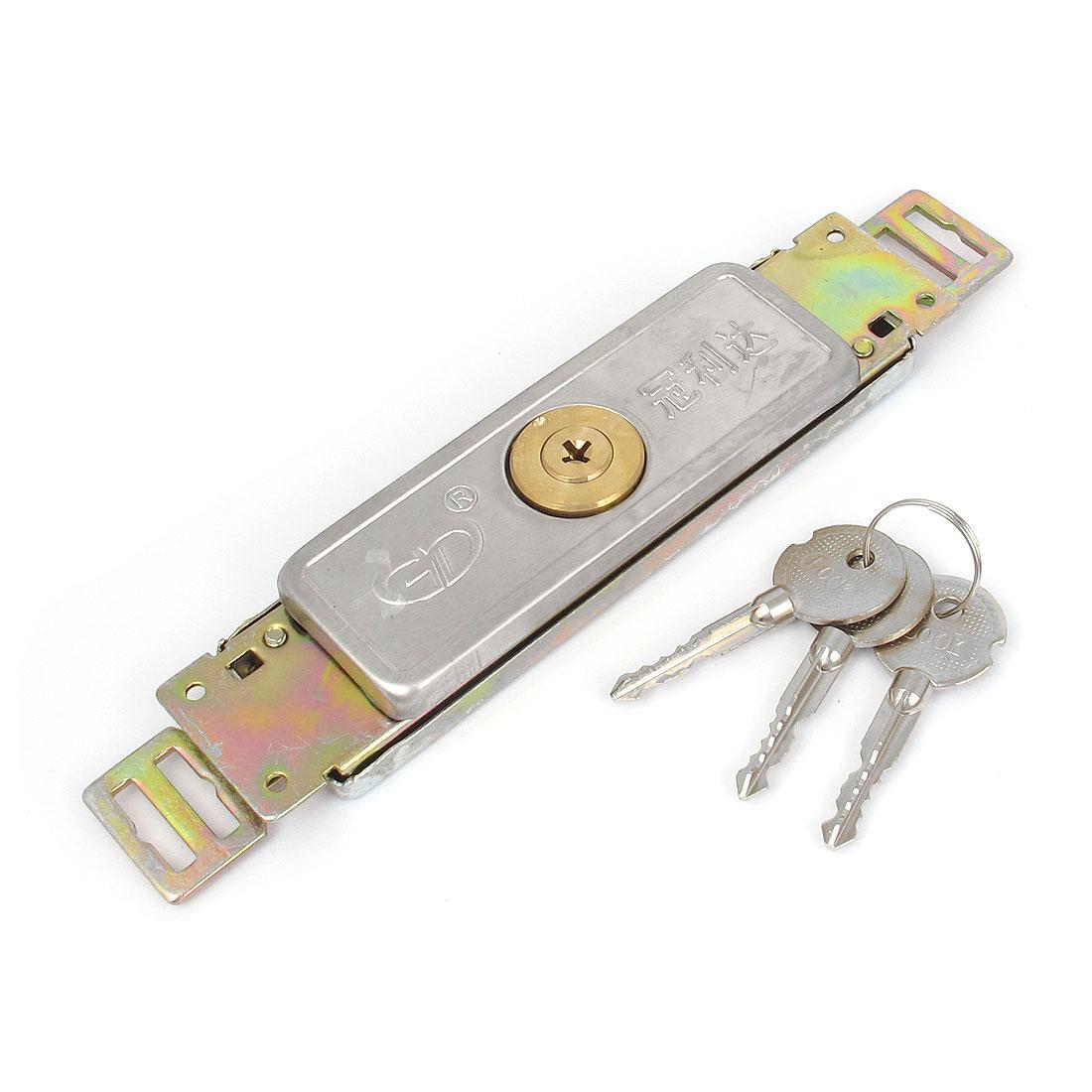 Warehouse Cross Key Driver Type Cylinder Head Rolling Shutter Door Lock w 3 Keys