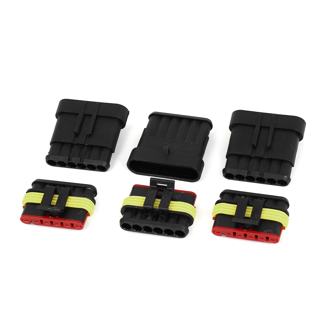 3 Set 6 Way Terminal Sealed Waterproof HID Connector for Car Auto