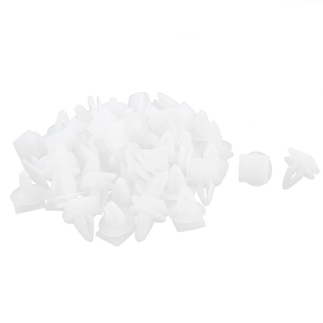 55 Pcs White Plastic Door Card Interior Carpet Floor Mat Clips
